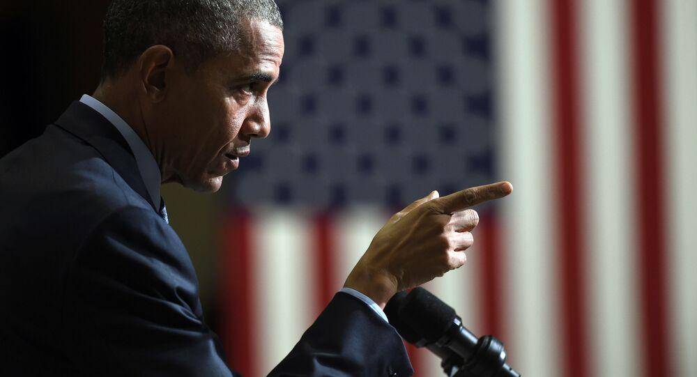 Prezydent USA Barack Obama przemawia w New Jersey