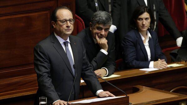Orędzie Françoisa Hollande'a do parlamentu - Sputnik Polska