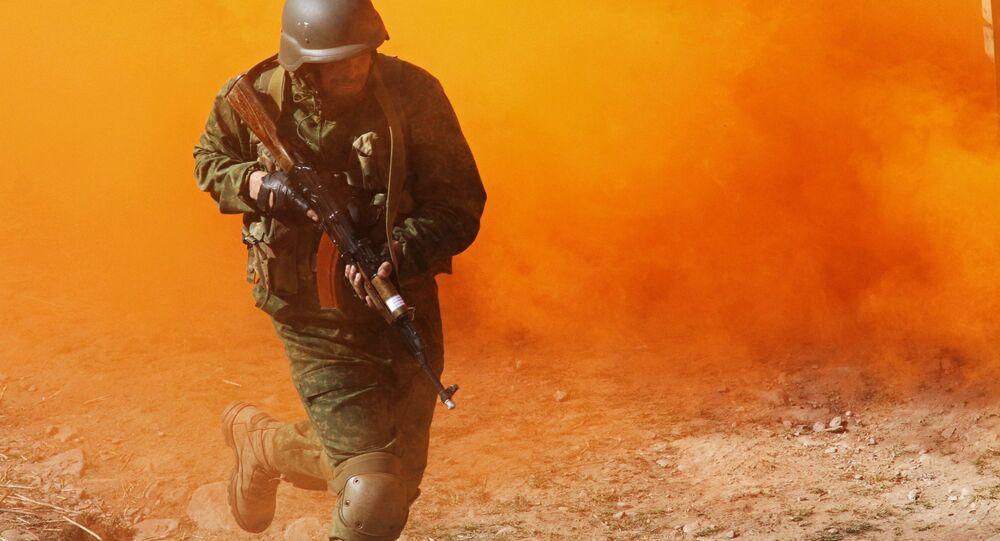"""żołnierz rosyjskiego elitarnego oddziału """"Alpha""""."""