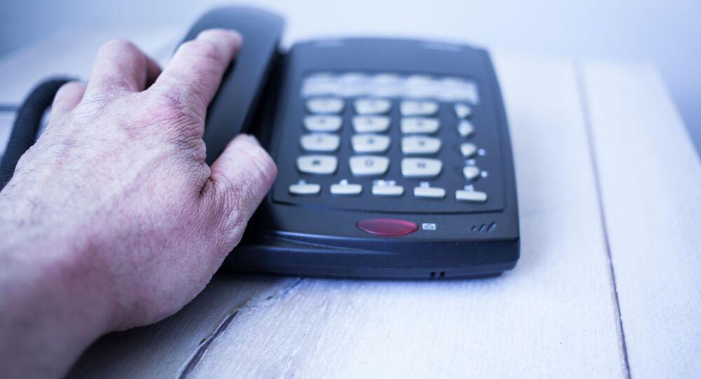 Ręka na telefonie