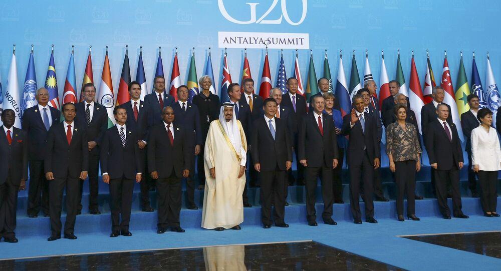 Przywódcy państw G20 w Turcji