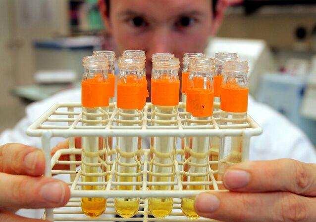 Próbki w laboratorium w Lozannie