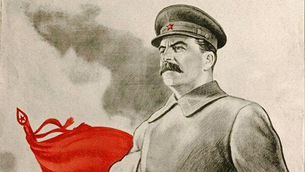 Плакат времени Великой Отечественной войны Сталин ведет нас к победе! - Sputnik Polska