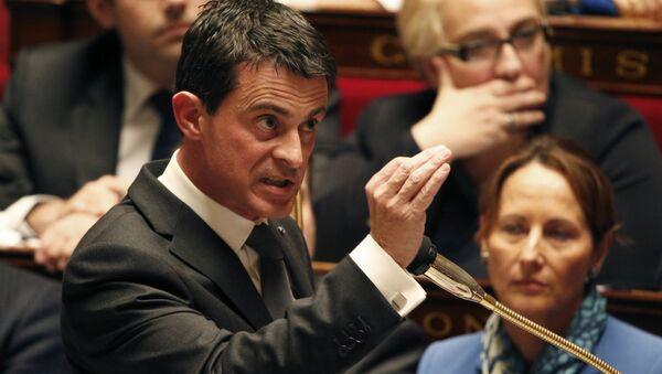 Premier Francji Manuel Valls na posiedzeniu rządu w Zgromadzeniu Narodowym w Paryżu - Sputnik Polska