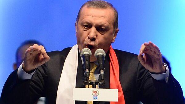 Prezydent Turcji Recep Tayyip Erdogan przemawia w Ankarze - Sputnik Polska
