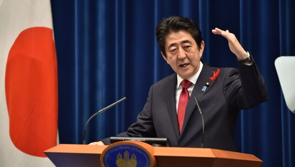 Premier Japonii Shinzō Abe - Sputnik Polska