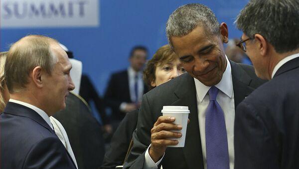 Prezydent Rosji Władimir Putin i prezydent USA Barack Obama na szczycie G20 w tureckiej Antalyi - Sputnik Polska