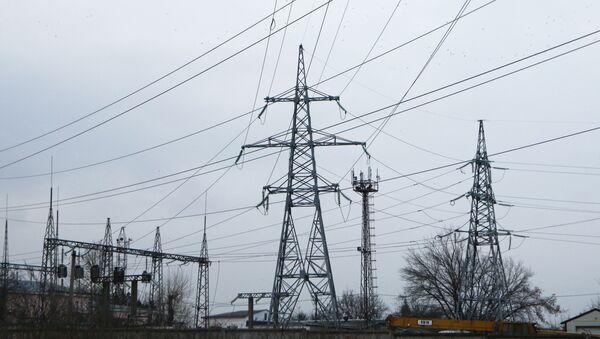 Wyłączone linie wysokiego napięcia w Symferopolu - Sputnik Polska