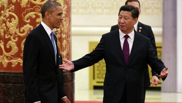 Xi Jinping i Barack Obama - Sputnik Polska