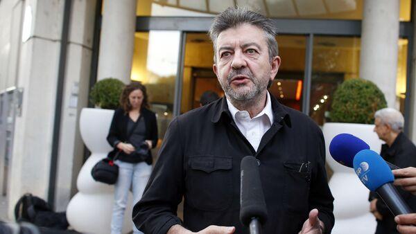Poseł do Parlamentu Europejskiego Jean-Luc Mélenchon - Sputnik Polska