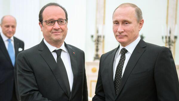 François Hollande i Władimir Putin - Sputnik Polska