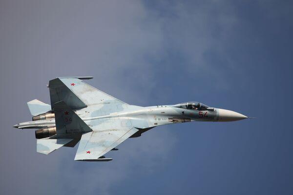 Rosyjski samolot myśliwski przechwytujący Su-27SM3 - Sputnik Polska