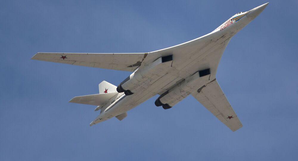 Rosyjski turboodrzutowy ponaddźwiękowy bombowiec strategiczny Tu-160