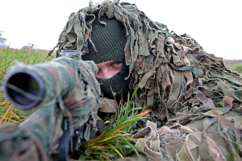 Ćwiczenia piechoty morskiej w obwodzie kaliningradzkim