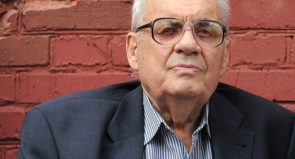 Reżyser Eldar Riazanow na ceremonii odsłonięcia pomnika Ludmiły Gurczenko, Ludowej Artystki ZSRR