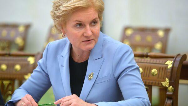 Wicepremier rosyjskiego rządu Olga Gołodiec - Sputnik Polska