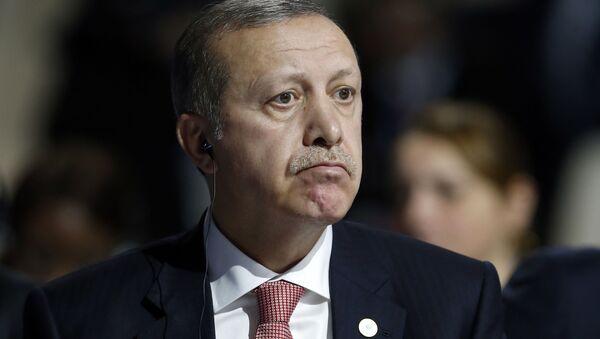 Prezydent Turcji Recep Tayyip Erdogan na Konferencji Narodów Zjednoczonych ws. zmian klimatu w Paryżu - Sputnik Polska