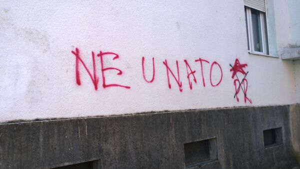 Anty-NATO graffiti w Czarnogórze - Sputnik Polska