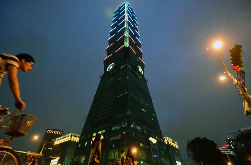 Wieżowiec Taipei 101 w Tajpej na Tajwanie