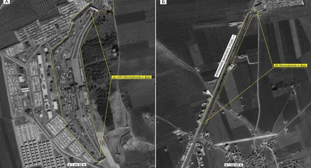 Ciężarówki wjeżdżające do Turcji (Ministerstwo Obrony Rosji)