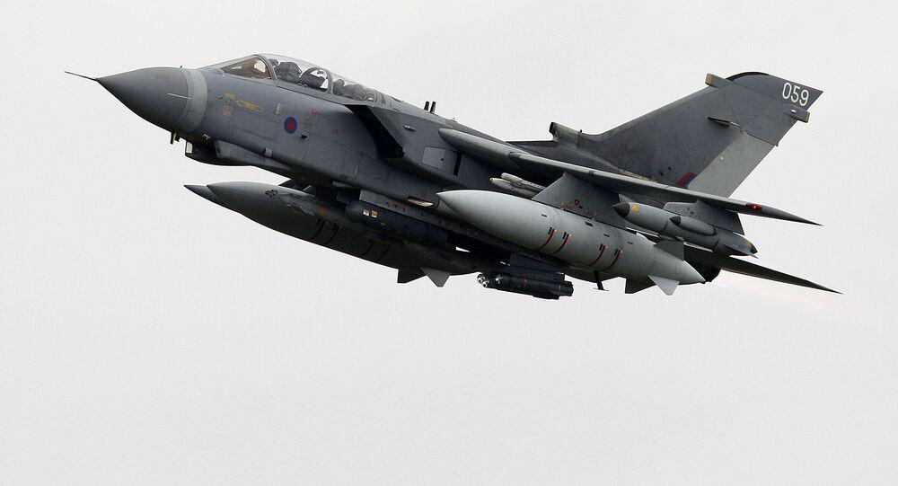Samolot Tornado brytyjskich sił powietrznych