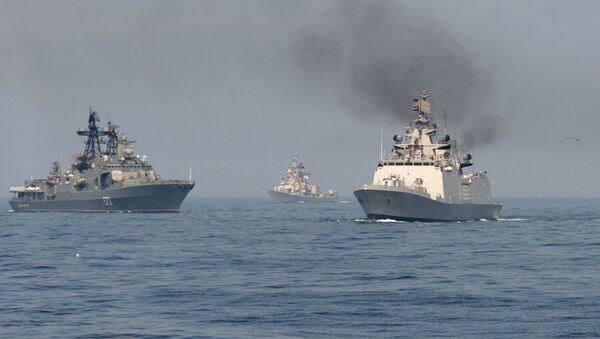 Rosyjsko-indyjskie manewry morskie INDRA-2014 - Sputnik Polska