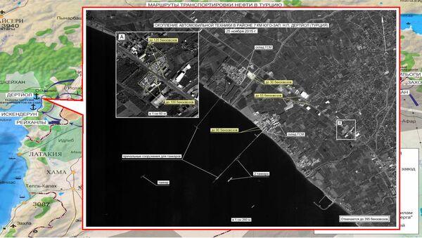 Koncentracja ciężarówek w pobliżu Dortyol w Turcji - Sputnik Polska