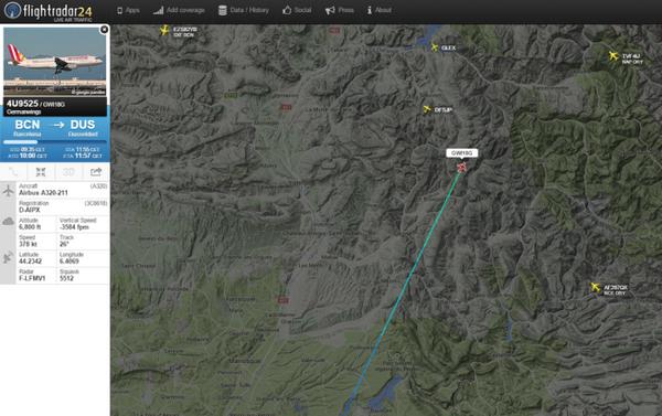Zdjęcie strony Flightradar24 samolot Airbus A320 - Sputnik Polska
