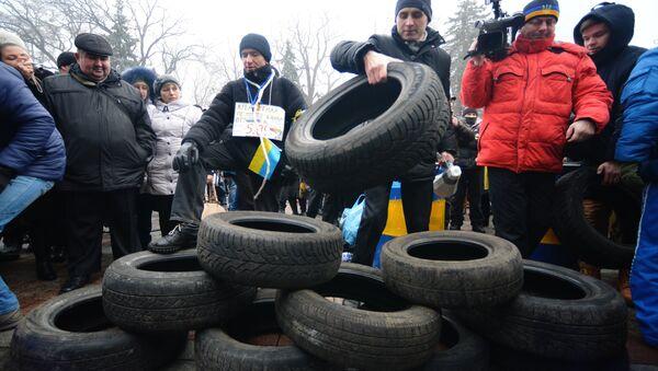 Akcja Majdan kredytowy w Kijowie - Sputnik Polska