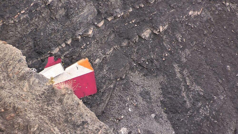Szczątki samolotu Germanwings, który rozbił się 24 marca 2015 w Alpach