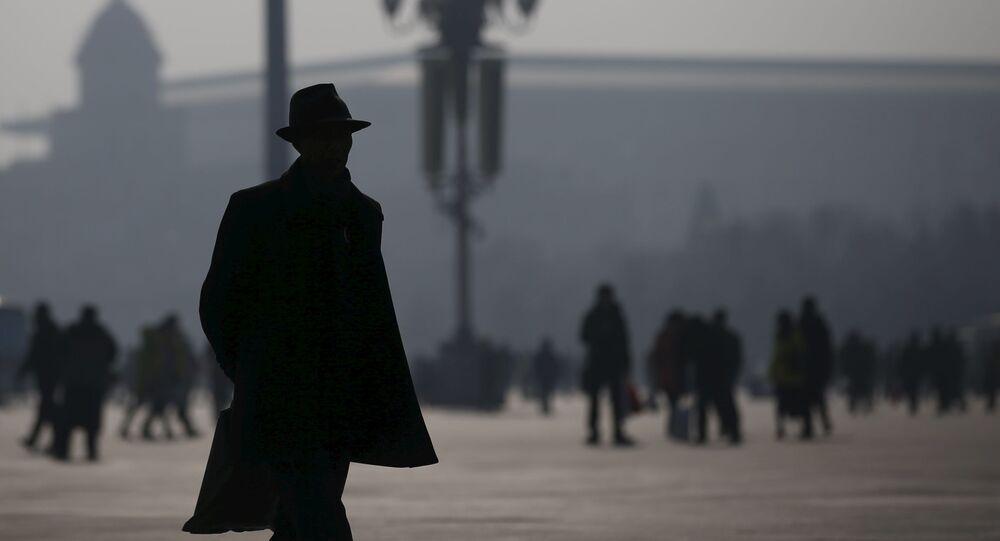 Mieszkańcy Pekinu podczas smogu