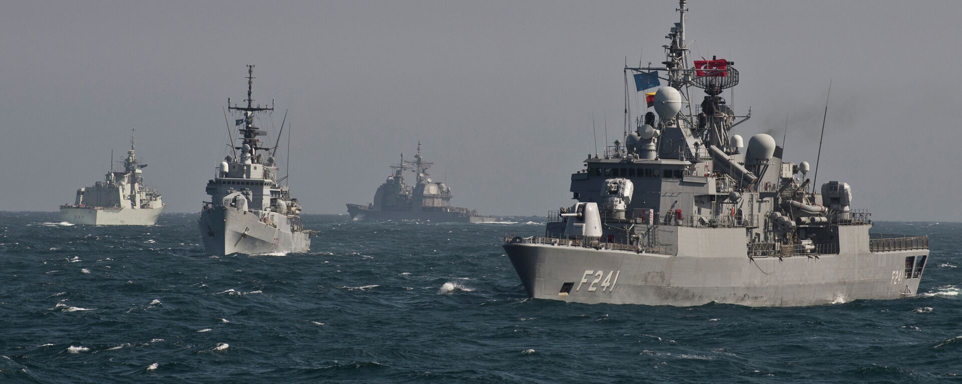 Okręty NATO uczestniczą w ćwiczeniach wojskowych na Morzu Czarnym - Sputnik Polska, 1920, 28.02.2021
