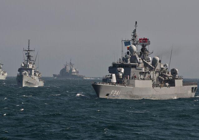 Okręty NATO uczestniczą w ćwiczeniach wojskowych na Morzu Czarnym