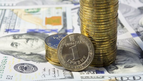 Hrywna ukraińska i dolar - Sputnik Polska