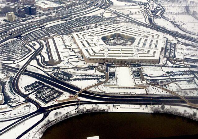 Widok na budynek Pentagonu w Waszyngtonie