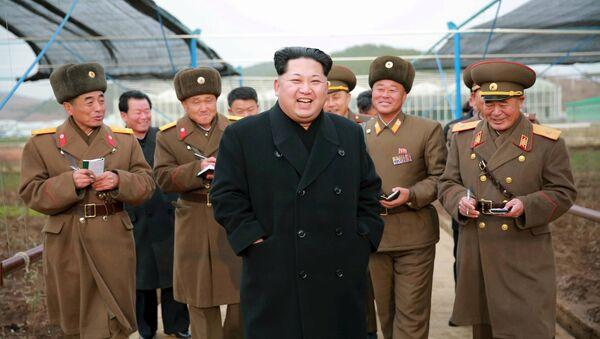 Лидер Северной Кореи Ким Чен Ын - Sputnik Polska