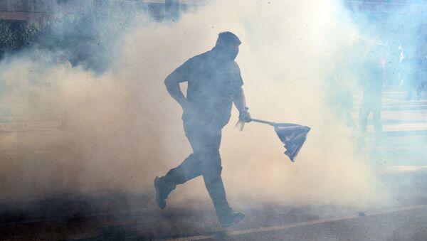 Uczestnik akcji protestacyjnej - Sputnik Polska