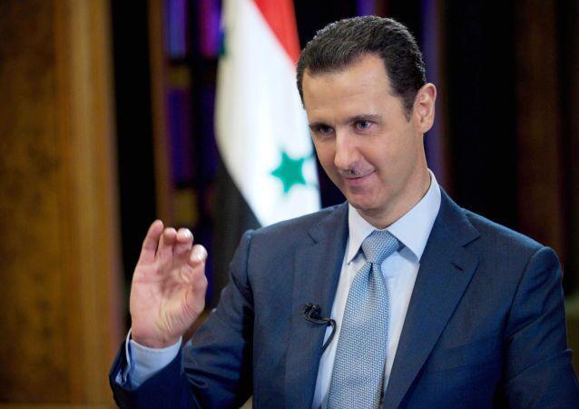 Prezydent Syrii Baszar al-Asad podczas wywiadu BBC w Damaszku