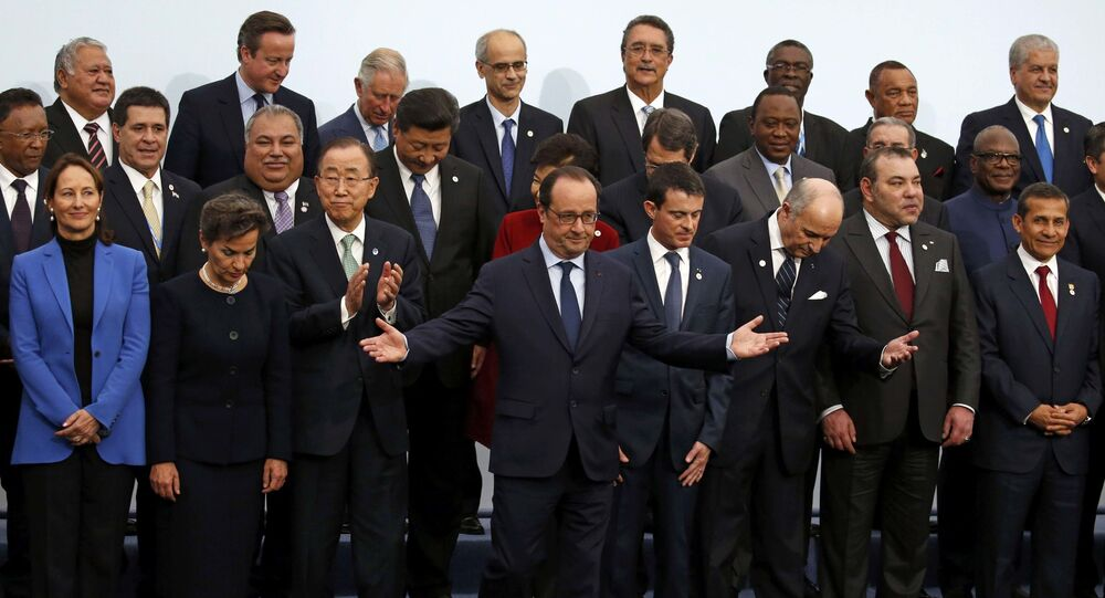Liderzy krajów konwencji klimatycznej ONZ na konferencji w Paryżu