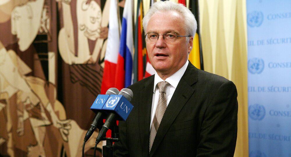 Stały przedstawiciel Rosji przy ONZ Witalij Czurkin
