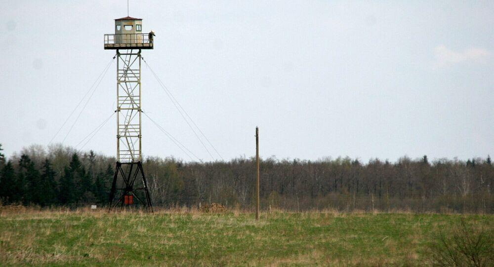 Wieża na rosyjsko-łotewskiej granicy