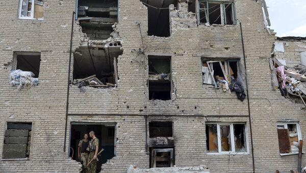 Ukraińscy żołnierze w Donbasie - Sputnik Polska