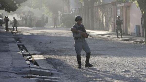 Afgański patrol wojskowy w centrum Kabulu - Sputnik Polska