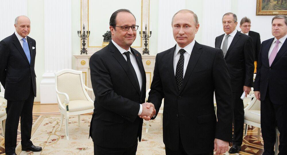 Prezydent Putin spotkał się z prezydentem Francji Francois Hollande