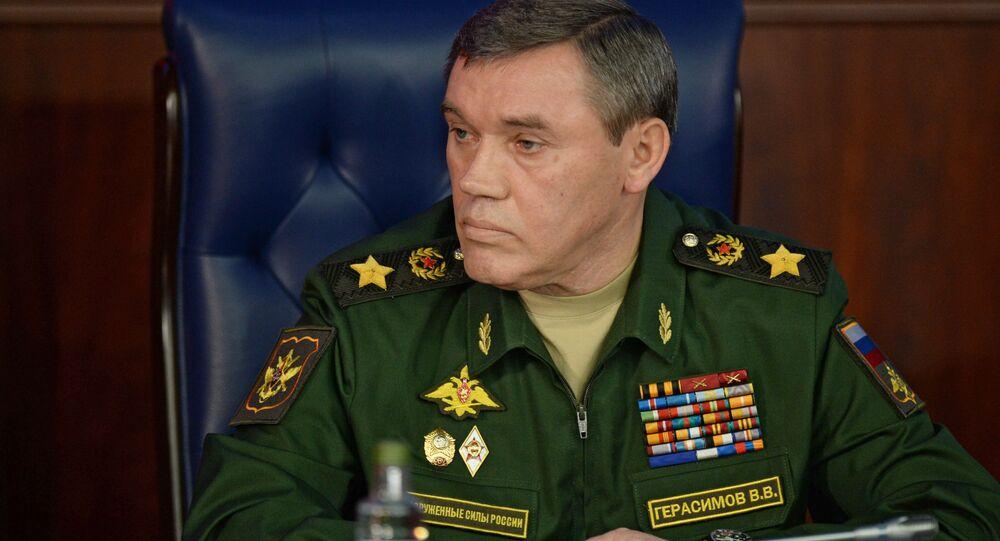 Szef Sztabu Generalnego Sił Zbrojnych Rosji Walerij Gierasimow w Moskwie