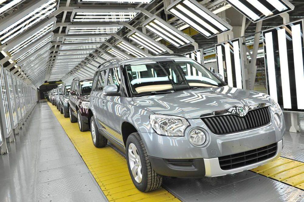 Linia produkcyjna samochodu Skoda Yeti w Gorkowskiej Fabryce Samochodów (GAZ) w Niżnym Nowogrodzie.