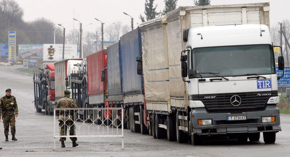 Międzynarodowe samochodowe przejście graniczne Hoptiwka na granicy ukraińsko-rosyjskiej