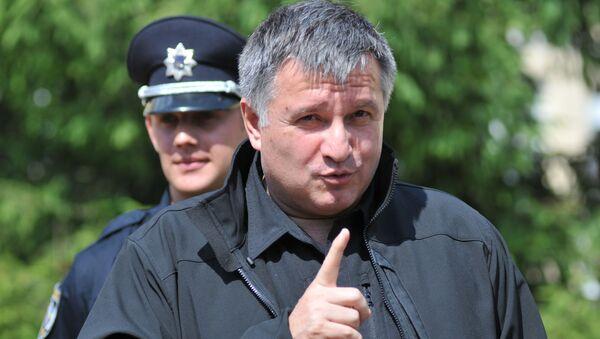 Minister spraw wewnętrznych Ukrainy Arsen Awakow we Lwowie - Sputnik Polska