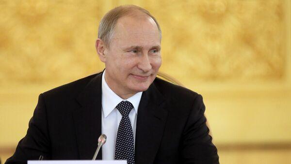 Władimir Putin na szczycie Eurazjatyckiej Unii Gospodarczej w Kremlu - Sputnik Polska