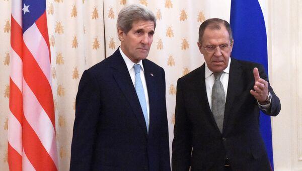Sekretarz stanu USA John Kerry i minister spraw zagranicznych Rosji Siergiej Ławrow - Sputnik Polska